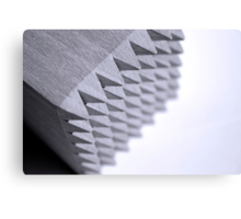 Black and White spikes Canvas Print