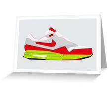 AM1 - Minimal Sneaker - Version 2 Greeting Card