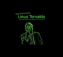 Linux Open Source Heroes - Linus Torvalds by boscorat