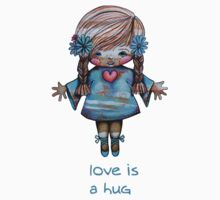 Love is a Hug Tshirt Kids Clothes