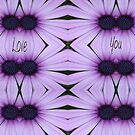Mauve Flowers & Love You by KazM