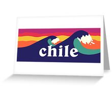 Chile Surf Waves Greeting Card