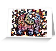 Tattoo Elephant  Greeting Card