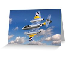 Gloster Meteor Jet Trainer Greeting Card