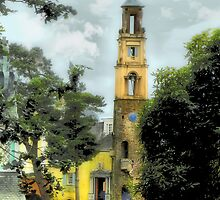 Bell Tower - Portmeirion Village by Angela Harburn
