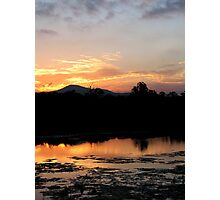 Sunset Reflections by the Coomera River Photographic Print
