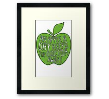 An Apple a day keeps the doctor away ! Framed Print