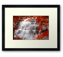 Autumn Waterfall I Framed Print