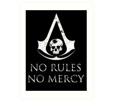 Assassins Creed Black Flag No rules Art Print