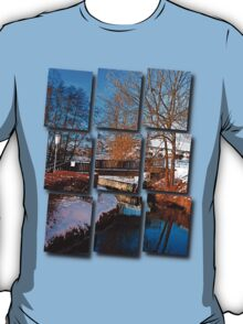 Bridge and river in winter scenery | architectural photography T-Shirt