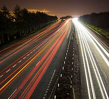 Motorway Light Trails by gedo