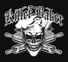 Baker Skull 6: Killer Baker and Crossed Rolling Pins T-Shirt