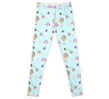 Bee and puppycat pattern Leggings