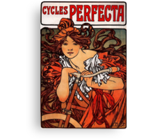 'Cycles Perfecta' by Alphonse Mucha (Reproduction) Canvas Print