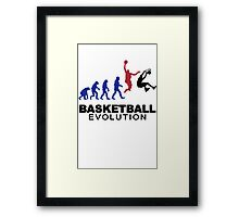 Evolution basket Dunk ! Framed Print
