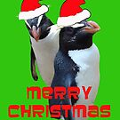 MR & MRS SANTA PENGUIN by Sharon Robertson