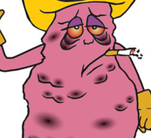 Meet Jeff the Diseased Lung! Sticker