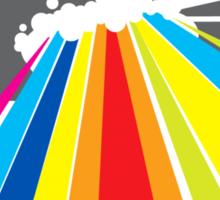 colour invaders #2 Sticker