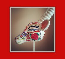 photo of a mexican style deer painted head by melaniedann