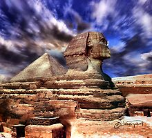 Giza's mighty sphinx  by navybrat