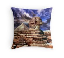 Giza's mighty sphinx  Throw Pillow