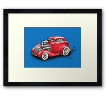 HOT ROD BEAST CHEV STYLE RED Framed Print