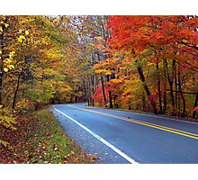 Autumn On A Scenic Highway Photographic Print
