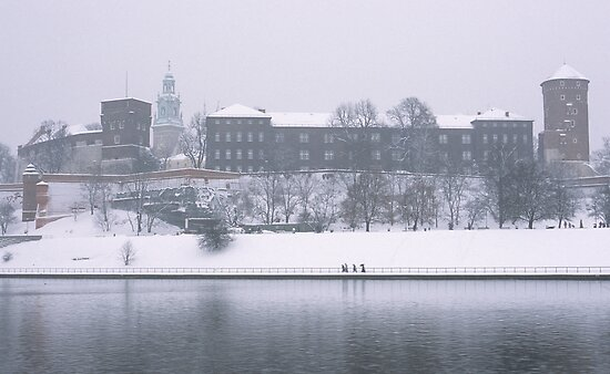 Wawel Castle in winter, Krakow by Kasia Nowak