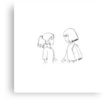 Haku + Chihiro Canvas Print