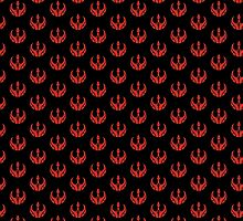 Rebels Segmented Logo (Black Background, Pattern 2) by JoshBeck