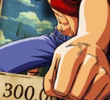 Wanted Luffy Sticker