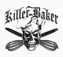 Baker Skull 3: Killer Baker and Crossed Whisks T-Shirt