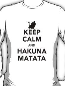 Keep Calm and Hakuna Matata new  T-Shirt