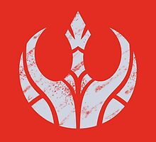 Rebels Segmented Logo (Grey on Red) by JoshBeck