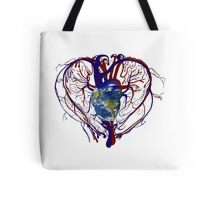 "Anatomical Kind ""Earth Heart"" Medical Circulatory Get Well Kindness Tote Bag"