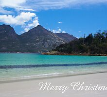 Wineglass Bay, Merry Christmas by Steven Weeks