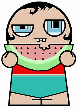 Watermelon Zombie Kid by stevegrig