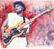Jazz Guitarist Marcus Miller Red by Yuriy Shevchuk