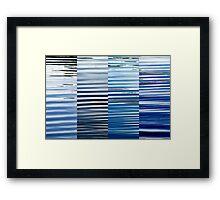 Into Blue  Framed Print