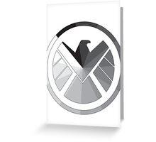 S.H.I.E.L.D Monochrome Greeting Card