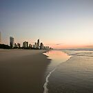 Sunrise Looking Towards Surfers Paradise by Brad Walker