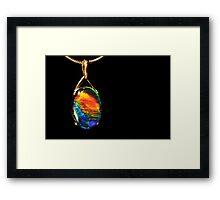 Opal Fire Framed Print