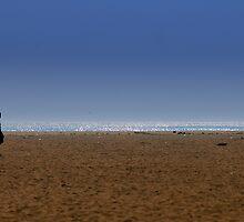 ...But the walking man walks... by Vikram Franklin