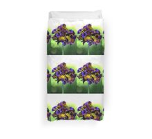 Shades of Frilly Pansy Duvet Cover