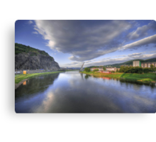 the river elbe Canvas Print