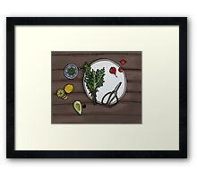 Eat your veg Framed Print