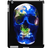 """""""LuxeMyth"""" Human-Caused Climate Change Earth Skull  iPad Case/Skin"""