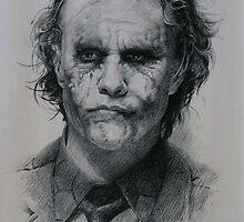 Heath Ledger as Joker from The Dark Knight (2008) by celebritysketch