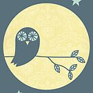 Owl & Moon by Bek Thompson