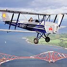 de Havilland Tiger Moth by Richard Hanley www.scotland-postcards.com